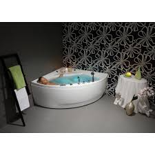 the strikingly upscale modern design of the olivia corner tub is the perfect addition to aquatica oliv freestanding acrylic bathtub white