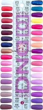 Dnd Gel Color Chart Color Chart 3 Dnd Duo Daisy Gel 36 Color Set 5 Fl Oz