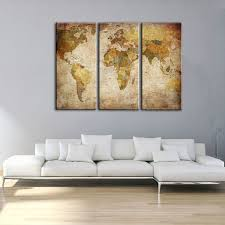 est factory framed canvas art prints old world map wall art canvas painting living room