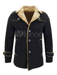 mens clothing black men coat turndown collar long sleeve short jacket wool winter coat