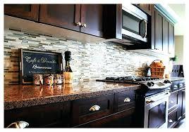 Kitchen Backsplash Tile With Dark Cabinets Tile Idea Glass Tile Dark