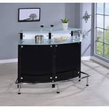 modern home bar furniture. Coaster Furniture Arched Bar Unit With Frosted Glass Counter Tops Modern Home R