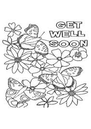 Small Picture Flowers and Butterflies with Get Well Soon Message Kids