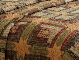 Rustic Quilt Patterns | Tea Cabin Rustic Star Quilt by VHC Brands ... & Rustic Quilt Patterns | Tea Cabin Rustic Star Quilt by VHC Brands Adamdwight.com