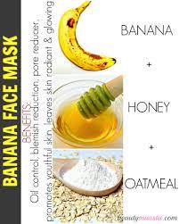 banana oatmeal honey face mask for combination skin