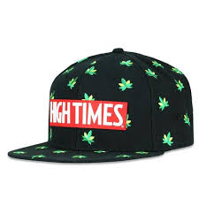 High Times Embroidered Leaf Black Snapback Hat Hats \u2013 Grassroots California