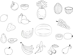 Fruit Coloring Pages Kinds Of Fruits Coloringstar