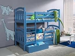 DAISY PINE WOOD CHILDREN BUNK BED WITH MATTRESSES AND STORAGE DRAWERS  Blue Smaller Size Amazoncouk Kitchen u0026 Home