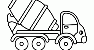 Medquit Alert Famous Dump Truck Coloring Pages Cement Mixer
