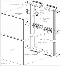 partially exploded view of a unitized curtain wall the extruded framing members