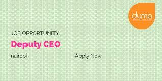 Job Vacancy Deputy Ceo Duma Works Blog