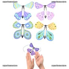 aiment 1Pc <b>Magic flying butterfly Surprising</b> Gift Wind up <b>Magic</b> Kids ...