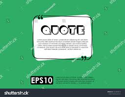 Illustration Vector Typography Design Remark Quote Stock Vector
