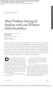pdf effects of based and applied problems on the procedural math skills of average and low achieving adolescents