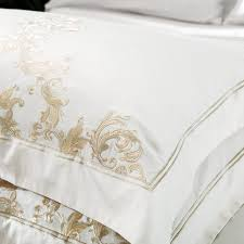 cotton oriental embroided bedding set