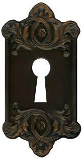 retro vine door key plate for lock by eveyd on deviantart