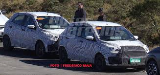 2018 ford ka. simple ford 2018 ford figo facelift spied in brazil right front three quarters to ford ka