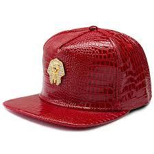 new black gold pharaoh snapback caps red leather most popular mens hat men women adjustable strapback hats