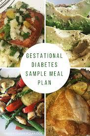 Diabetes Sample Menus Gestational Diabetes Sample Meal Plan Food Gestational Diabetes