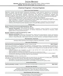 Process Engineer Resume Chemical Or Process Engineer Process
