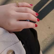 ネイルホリックネイルホリックの口コミ夏に映える透明感赤ネイル