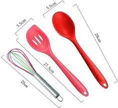 silicone kitchen utensils set heat resistant of 10 pieces non stick non scratch cooking utensils