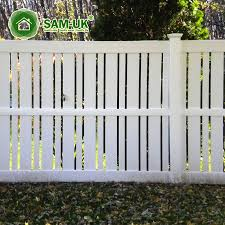 white plastic slats semi garden