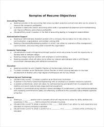 Resume Objective For Administrative Assistant For Free 10 Entry