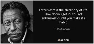 Enthusiasm Quotes Amazing Gordon Parks Quote Enthusiasm Is The Electricity Of Life How Do
