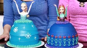 How To Make Frozen Princess Elsa And Anna Cakes Perfect For A