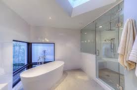 bathroom modern white. Modern White Bathroom With Large Shower Rainfall Showerhead