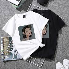 <b>Women's Fashion Girl</b> Print <b>Casual</b> Loose Couples T-Shirts ...