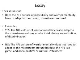 "sports culture ""man up "" ""man up"" predict the argument this  22 essay"