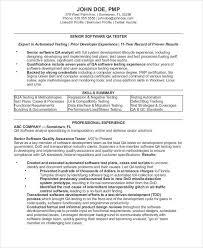 Quality Assurance Analyst Resume Amazing 44 Sample Quality Assurance Resumes Sample Templates