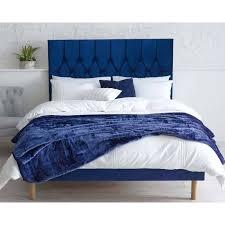 blue 6ft super king size bed frame