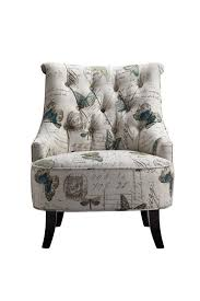 artistical exotic fl print single seater wooden sofa chair
