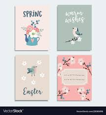 Spring Photo Cards Set Of Cute Spring Easter Greeting Cards