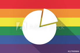 Long Shadow Lgbt Flag With A Pie Chart Buy This Stock