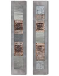 copper wall art silver wall art