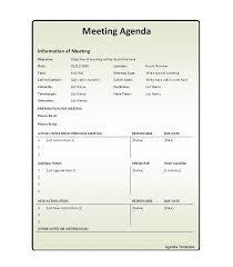 Agenda List 46 Effective Meeting Agenda Templates Template Lab