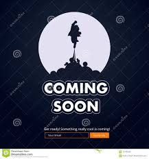Coming Soon Website Template Stock Vector Illustration Of