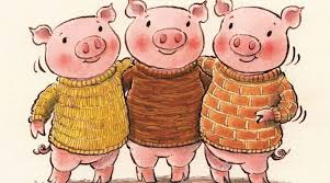 Image result for the three pigs clipart