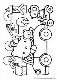 Farm Coloring Pages Free Printable Hello Kitty On The Farm Coloring