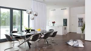 dining room table with bench against wall. Dining Room Modern Set Glossy Black Granite Table Tops Cozy Cream Fabric Seat Pure White Wall With Bench Against S