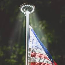 Flag Lights Pole Best Solar Powered Flagpole Light Reviews The Top 5 For You