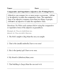 Superlative And Comparative Worksheets Free Worksheets Library ...