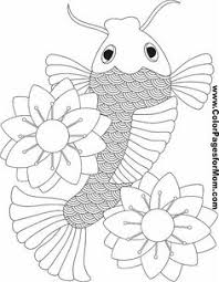 Small Picture Koi Fish Coloring Pages Free coloring pages Art Pinterest