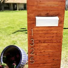 Modern Mailbox Designs Modern Mailbox Simple Weekend Project Modern Landscaping