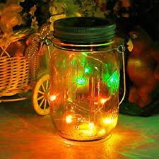 multi color outdoor solar jar design. Mason Jar Light Solar LED Glass Hanging Lamp Outdoor String Lantern Fairy Decoration For Home Party Multi Color Design T