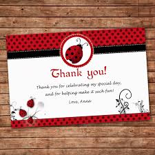 Personalized Any Wording Red Black Thank You Card Little